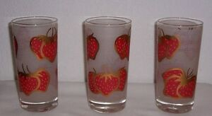 3-Vintage-1960s-Mid-Century-FRED-PRESS-RETRO-BARWARE-GLASSES