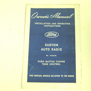 Ford-Lincoln-1948-49-Ford-Owner-039-s-Manual-Auto-Radio
