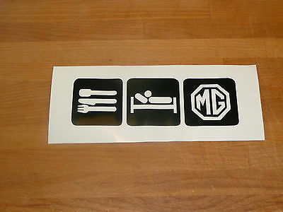 eat sleep Mg rover  gt tf  funny sticker decal
