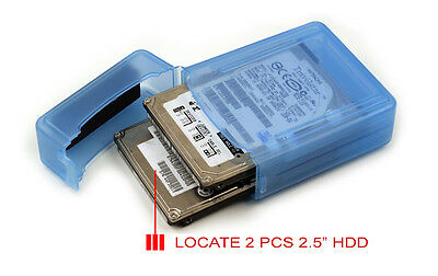 1xPC Plastic 2.5 inch Hard Disk Drive HDD Storage Box Protection Case