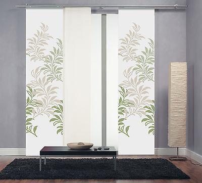 Flächenvorhang Schiebevorhang digital bedruckt Äste grün Gr. 60x260cm Limbo 232