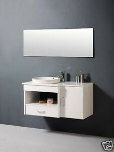 Bathroom cabinet single basin with marble bench top for Bathroom cabinets ebay australia