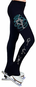 W Trousers Leggings Practice Figure R253 Ice Skating Pants Dress rhinestone xX0nZTY