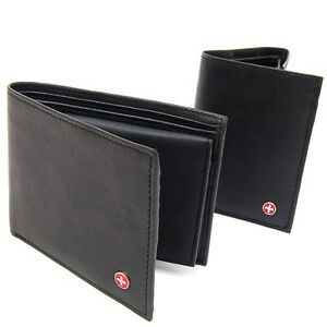 Alpine-Swiss-Mens-Leather-Wallet-Trifold-Bifold-Superb-Quality-Comes-in-Gift-Bag