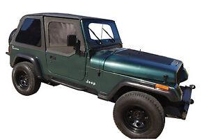 Black Frameless Top 1992 1993 1994 1995 Soft Top Jeep