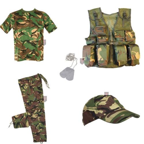 Natale affare kids-Deluxe B-Esercito Mimetico Costume Vestito Da Soldato Per Bambini