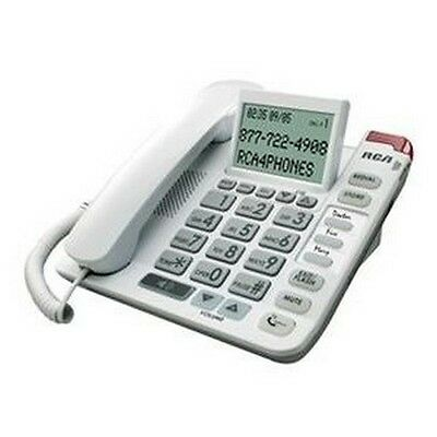 RCA Amplified Big Button CID 1124-1WTGA Phone - JS