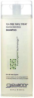 Tea Tree Triple Treat Invigorating Shampoo, Giovanni Hair Care Products, 8.5 oz