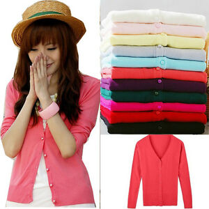 Women-Lady-Fashion-Long-Sleeved-Cardigan-Knitted-Sweater-Tops-12-Colors-F348