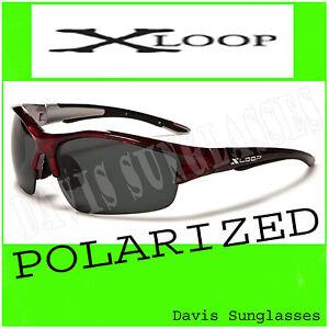 Mens-X-Loop-Polarized-Sunglasses-XL48104PZ-Davis-B2-fishing-golf-shades-red