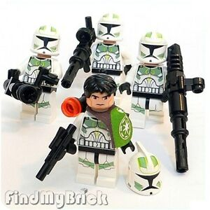 SW146G-x4-Lego-Star-Wars-4x-Green-Clone-Commander-Troopers-7913-NEW