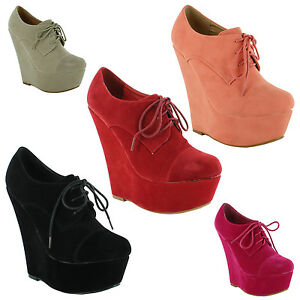 Ladies-High-Heel-Wedge-Platform-Sandals-Lace-Up-Ankle-Boots-Sizes-UK-3-4-5-6-7-8