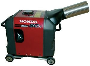 Honda-EU3000is-generator-exhaust-system-Directs-exhaust-outside-enclosure