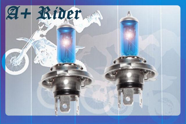 H4 9003/HB2 100/90W pair High/ Low Xenon HID Super White Halogen Light Bulbs A2
