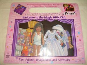 Keisha MagiCloth Magnetic Magic Attic Club Paper Doll 8 Outfit Set Vintage 1997