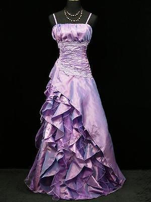 LOVELY PURPLE WEDDING EVENING PROM DRESS Size 8 12 14 16 18 20 22