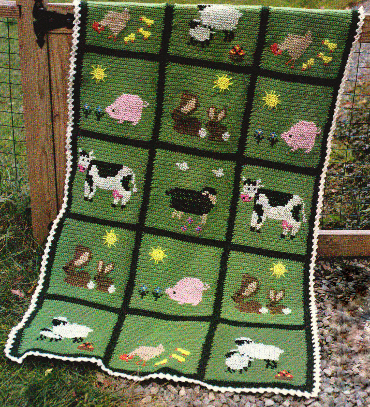 Old Macdonald S Farm Blanket To Crochet Use Separately