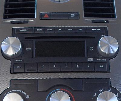 DODGE CHRYSLER CHARGER MAGNUM 300 BILLET 2PC RADIO KNOB KNOBS POLISHED