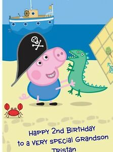 Personalised-A5-George-Pig-Birthday-Card-Any-Relation-Grandson-Son-Godson-Nephew