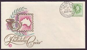 1964 2/3 WHITE WATTLE WESLEY GENERIC POSTHORN FIRST DAY COVER UNADDRESSED CMV$70