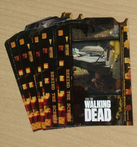 2011 Cryptozoic Walking Dead 9card insert chase BEHIND SCENES set CO1 thru CO9