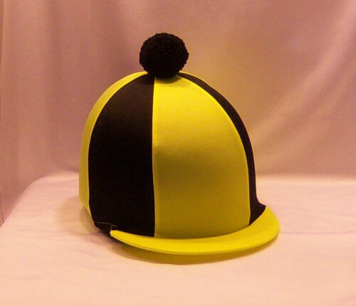 FLUORESCENT YELLOW /& BLACK RIDING HAT COVER