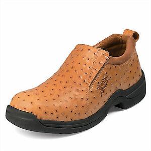 mens justin slip on casual ostrich print shoe 192 ebay