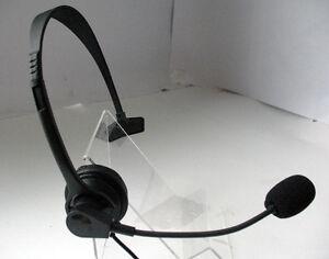 call center telephone headset rj11 for avaya nortel m7208 m7310 m7324 ascom ge ebay. Black Bedroom Furniture Sets. Home Design Ideas