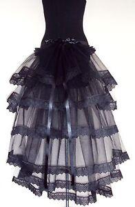 Black-Burlesque-Bustle-Belt-S-M-L-XL-Sexy-Lace-Steam-Punk-Victorian