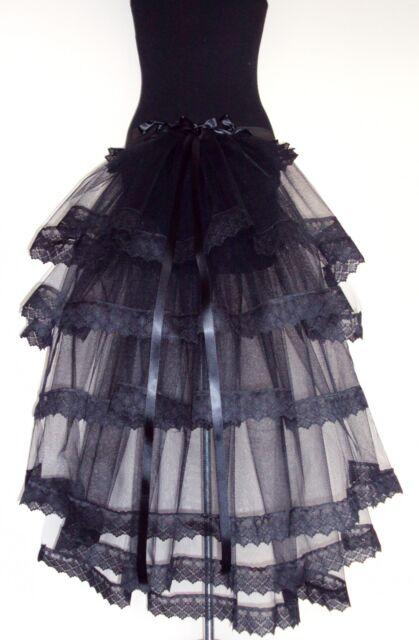 BLaCK BuRlesQue MouLin RouGe BuStle Belt 14 16 18 Sexy Lace Halloween Steampunk