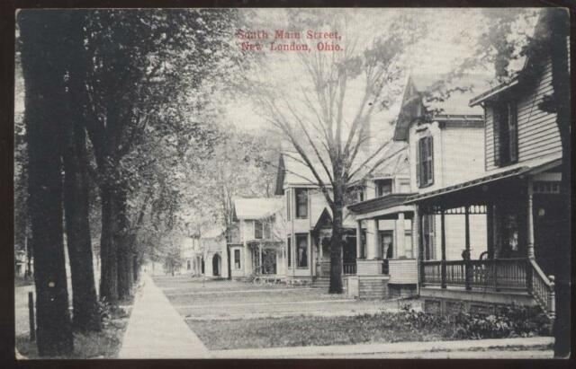 Postcard NEW LONDON,Ohio/OH   South Main Street Houses/Homes view 1907?
