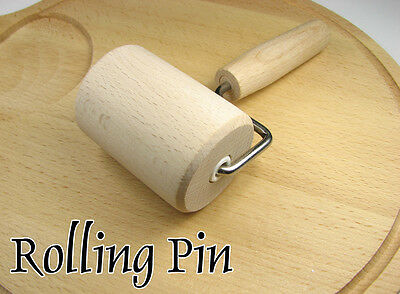 Natural wooden ROLLING PIN with Handle. Perfect for baking. Useful at CRAFT ! !