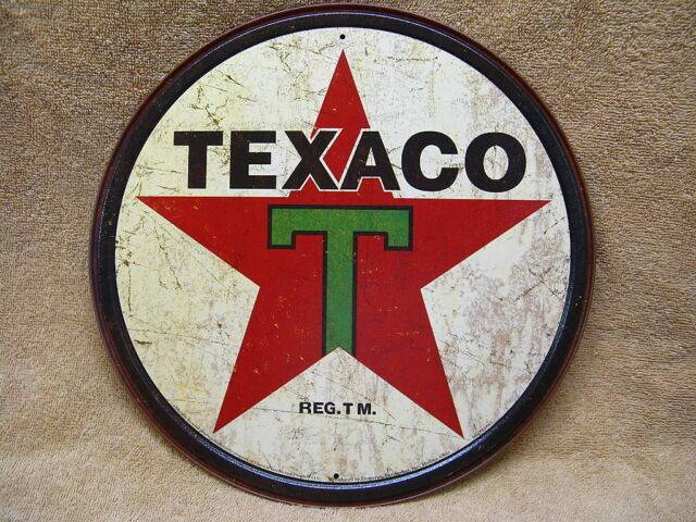 Texaco 1930's Vintage Look Tin Metal Sign Advertising Gas & Oil Star NEW