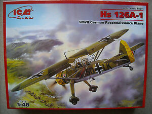 ICM-1-48-Hs-126A-1-WWII-German-Recon-Plane