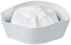 Mens-ladies-Adult-fancy-dress-costume-US-Marine-Sea-White-SAILOR-DOUGHBOY-HAT