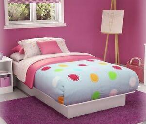 NEW White Twin Size Platform Bed =NO BOX SPRING REQ= Frame ...