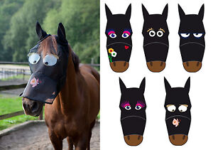 Full-Face-Funny-Cartoon-Fly-Mask-Veil-Hood-Thin-Polyester-Ears-Nose-Protection