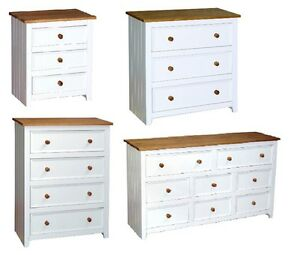 Image Is Loading CAPRI BEDROOM FURNITURE WHITE PINE DRAWER CHEST SERIES