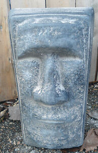 tiki easter island face free standing statue mold heavy duty plastic concrete