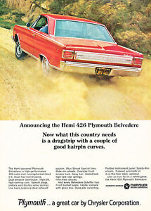 1966-Plymouth-Belvedere-Hemi-426-Classic-Vintage-Advertisement-Ad-A92-B