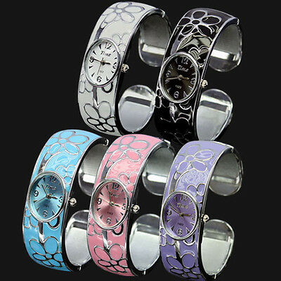 Womens Ladies Numeral Show Quartz Stainless Steel Band Battery Bracelet Watches
