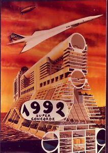 5034-CARTE-POSTALE-CONCORDE-1992-SUPER-CONCORDE