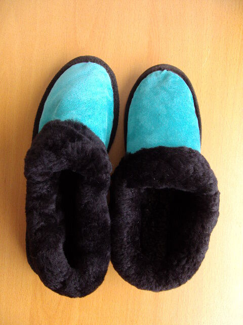BRAND NEW SHEARLING LAMB SLIPPERS SHEEPSKIN BON MOUTON FUR SLIPPERS LAMB Schuhe WOMEN 2f4ccf