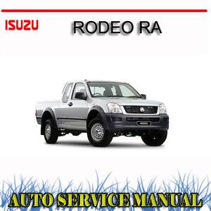 Isuzu Rodeo Ra 2003 2008 Service Repair Manual Dvd Ebay