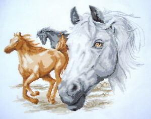 completed-finished-handmade-cross-stitch-running-horses