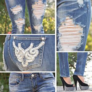 Light blue ripped skinny jeans SZ: 0-13 w/ design 1A355JS | eBay