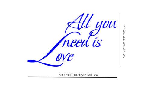 murales Vous n/'avez besoin que de l/'amour // Mur Autocollant Art Mur Autocollants muraux citations