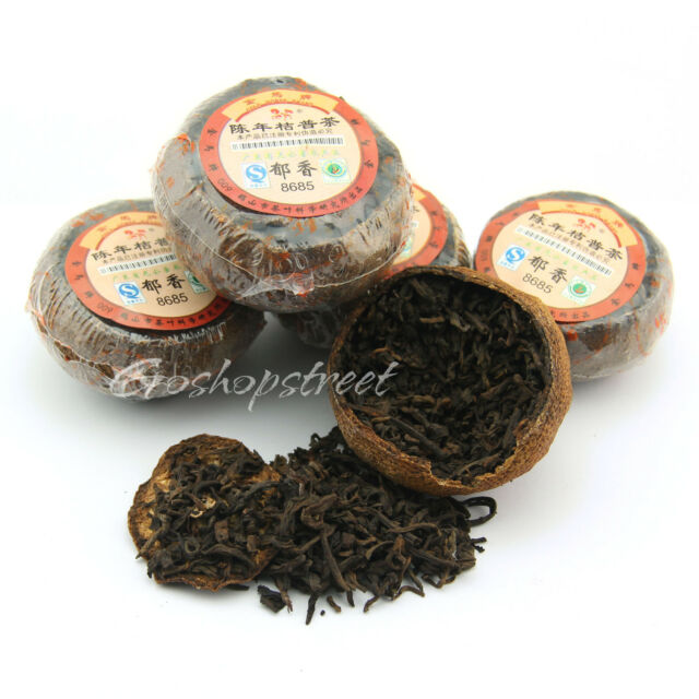 100g Gold Horse 8685 orange peel ChenPi puer Puerh Stuffed Tagerine Tea Ripe