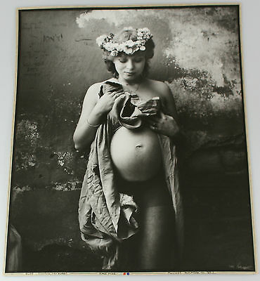 "Jan Saudek, Original photograph ""Miroslava, little mother""