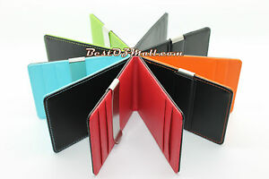 HQ-Mens-Womens-Money-Clip-Leather-Wallet-Ultra-Slim-Credit-Card-Holder-Pouch